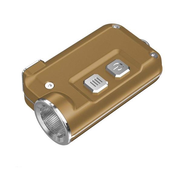 NITECORE Tini 380 Lumen Mini Metallic Micro USB Rechargeable Gold Keychain Flashlight (FL-NITE-TINI-GL)
