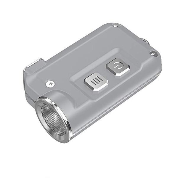 NITECORE Tini 380 Lumen Mini Metallic Micro USB Rechargeable Silver Keychain Flashlight (FL-NITE-TINI-SI)