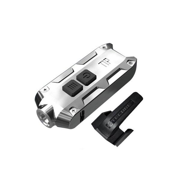 NITECORE Tip 2017 SS 360 Lumen Rechargeable Glacier Keychain Flashlight (FL-NITE-TIP2017-SSGC)