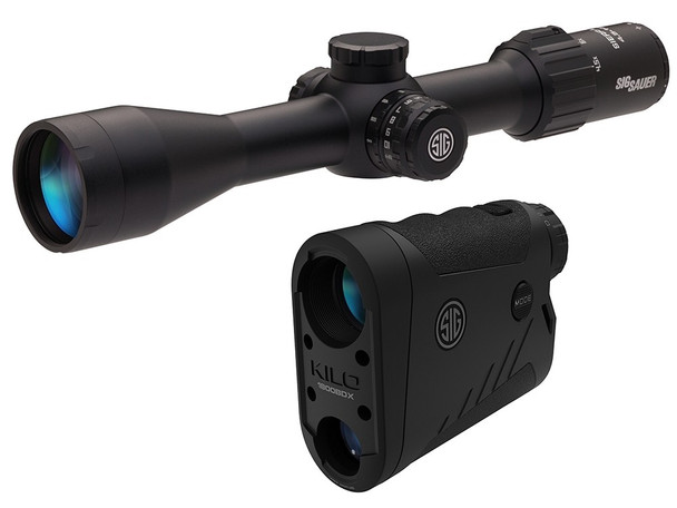 SIG SAUER BDX KILO1800BDX LRF And SIERRA3BDX 4.5-14x44mm Riflescope Combo Kit (SOK18BDX01)