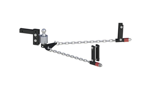 ANDERSEN No-Sway Weight Distribution Hitch 4in Drop/Rise, 2in Ball, Universal Frame Brackets (3324)