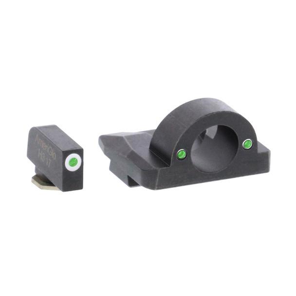 AMERIGLO Ghost Ring Green Tritium Night Sight Set For Glock Gen5 17,19,19X,26,45 (GL-5125)