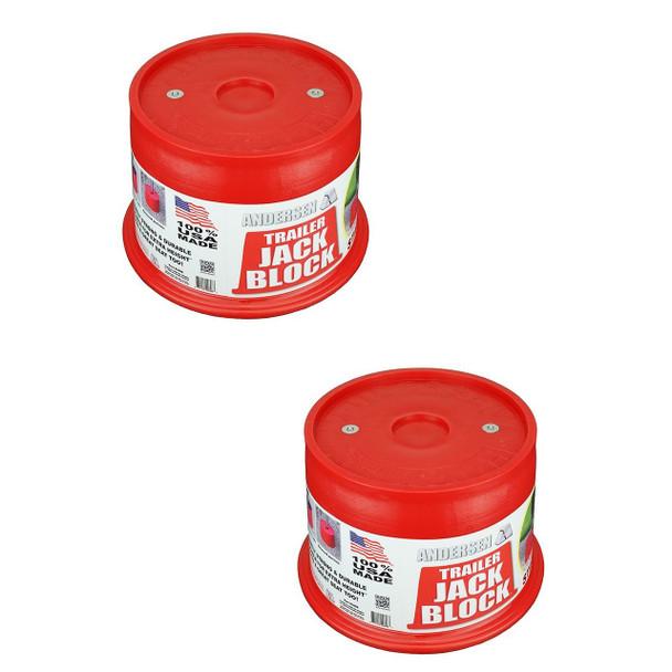 ANDERSEN Trailer Jack Block 2-PAK with magnets (3608-M-2)