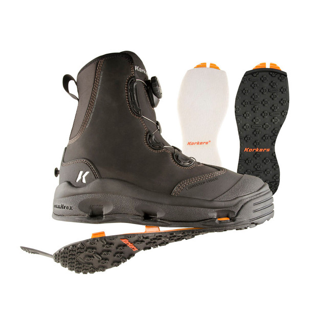KORKERS Devil's Canyon with Felt & Kling-On Outsole Boots (FB4110)
