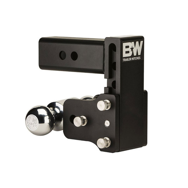 B&W Tow & Stow 5in Drop 4.5in Rise 2x2 5/16in Dual Ball Size Hitch (TS20037B)