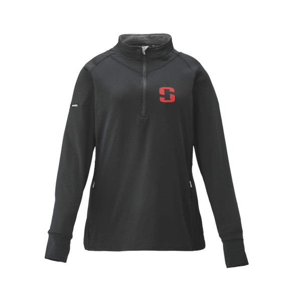 STRIKER ICE Womens Elite 1/4 Zip Black Shirt (62900)