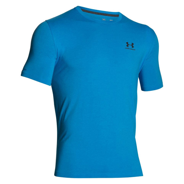 UNDER ARMOUR Mens CC Left Chest Lockup Electric Blue Shirt (1257616-428)