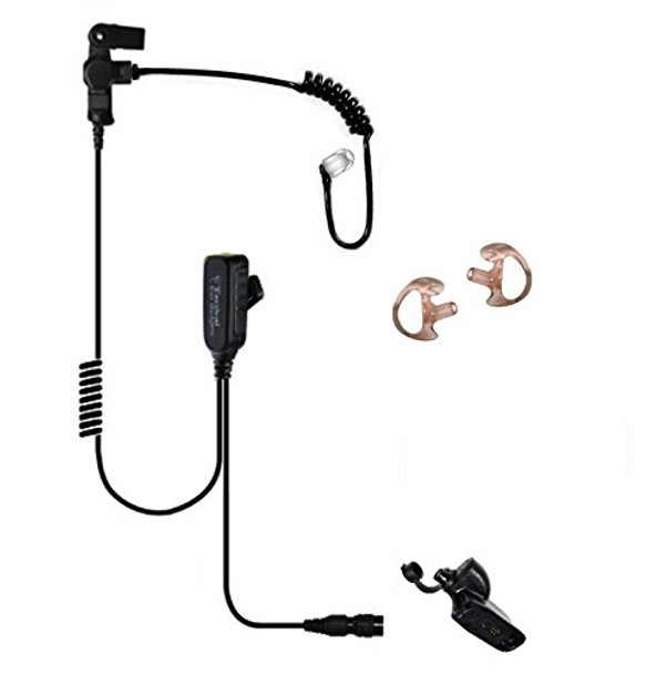 EAR PHONE CONNECTION Hawk Lapel Microphone with Easy-Connect fits Motorola (EP1334EC)