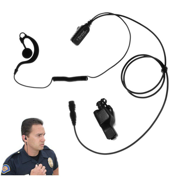 EAR PHONE CONNECTION Quick Release Falcon Lapel Micorphone for Motorola (EP323QR)