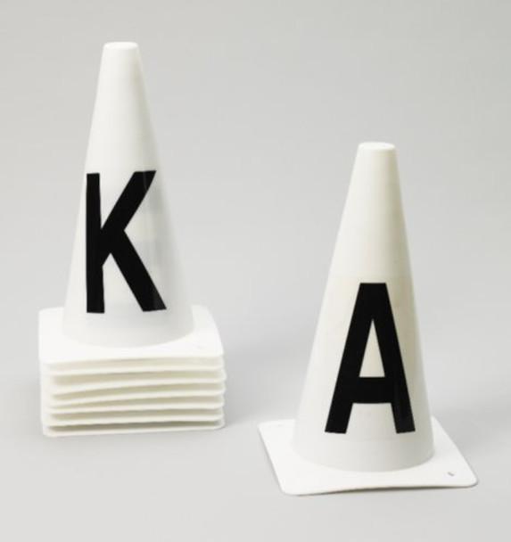EQUIESSENT Dressage Cones Set of 8 (467777WHT-SET8)
