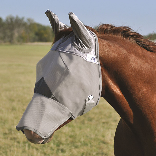 CASHEL Crusader Long Nose Weanling/Small Pony Fly Mask with Ears (CFMWLE)