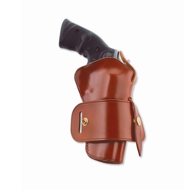 GALCO Wheelgunner S&W K & L Frame Ambidextrous Leather Belt Holster (WG104)