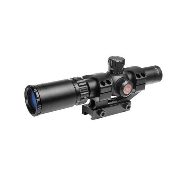 TRUGLO Scp Tactical 1-4x24 30mm Duplex Mil-Dot Reticle Riflescope (TG8514BT)