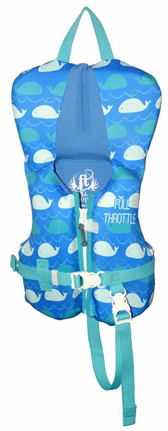 FULL THROTTLE Infant Flexback Neoprene PFD Whales Life Jacket (142209-500-000-17)