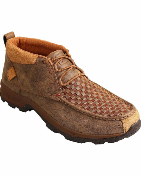 TWISTED X Mens Hiker Woven Brown/Bomber Shoe (MHK0008)