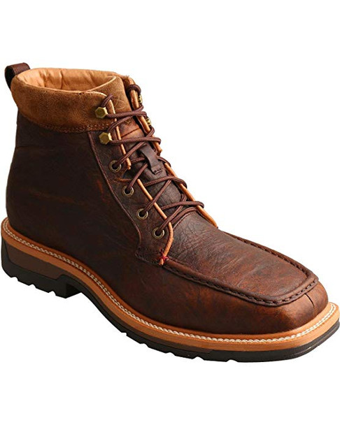 TWISTED X Mens Lite Cowboy Dark Brown Workboot (MLCWLW1)