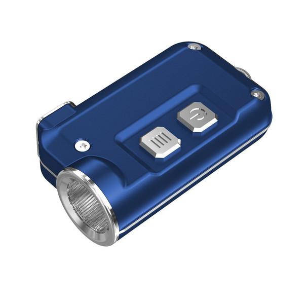 NITECORE Tini 380 Lumen Mini Metallic Micro USB Rechargeable Blue Keychain Flashlight (FL-NITE-TINI-BL)