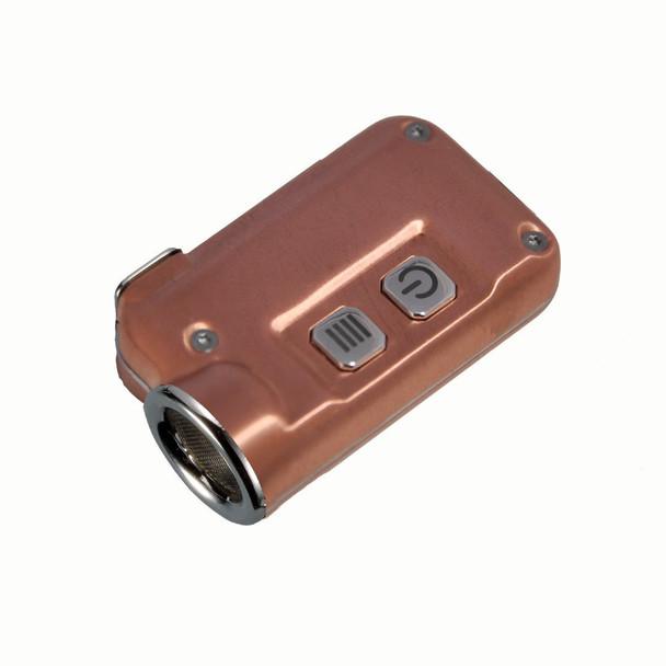 NITECORE Tini 380 Lumen Mini Metallic Micro USB Rechargeable Copper Keychain Flashlight (FL-NITE-TINI-CU)