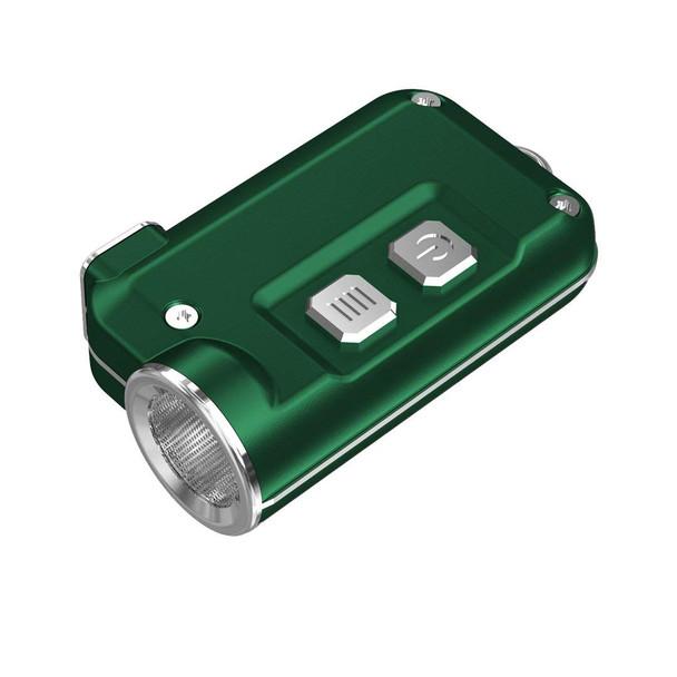 NITECORE Tini 380 Lumen Mini Metallic Micro USB Rechargeable Green Keychain Flashlight (FL-NITE-TINI-GN)