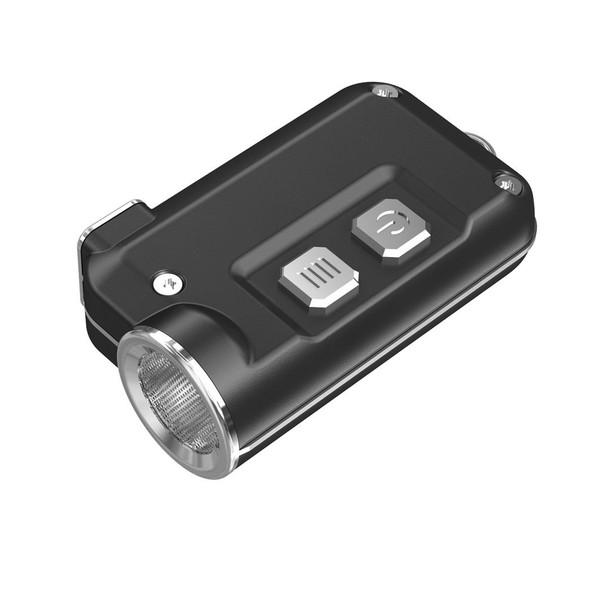 NITECORE Tini 380 Lumen Mini Metallic Micro USB Rechargeable Grey Keychain Flashlight (FL-NITE-TINI-GY)