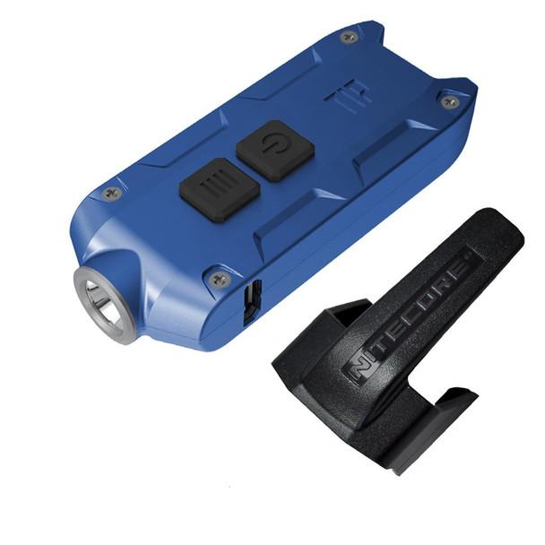 NITECORE Tip 2017 360 Lumen Rechargeable Blue Keychain Flashlight (FL-NITE-TIP2017-BL)