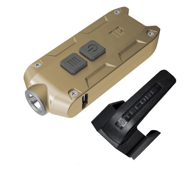 NITECORE Tip 2017 360 Lumen Rechargeable Gold Keychain Flashlight (FL-NITE-TIP2017-GL)