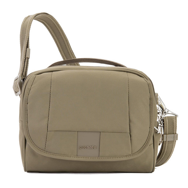 PACSAFE Metrosafe LS140 Anti-Theft Compact Earth Khaki Shoulder Bag (30410221)