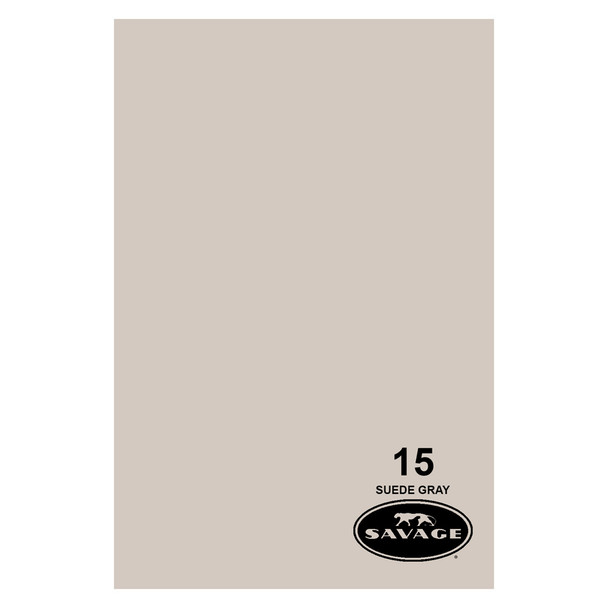 SAVAGE UNIVERSAL 86in x 12Yd Widetone Suede Gray Paper (15-86)