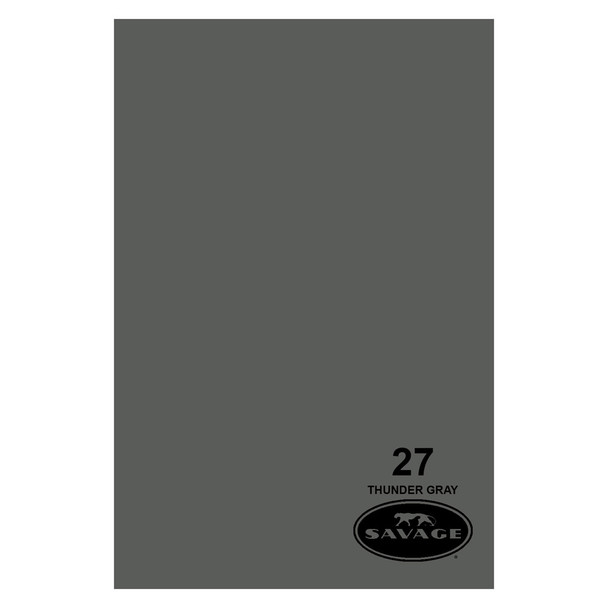 SAVAGE UNIVERSAL 86in x 12Yd Widetone Thunder Gray Paper (27-86)