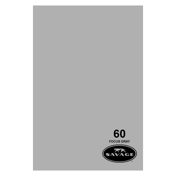 SAVAGE UNIVERSAL 53in x 12Yd Widetone Focus Gray Paper (60-1253)