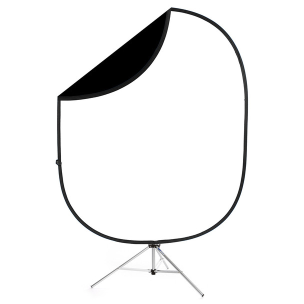 SAVAGE UNIVERSAL Collapsible 2 Sided Black/White Backdrop (CB112)