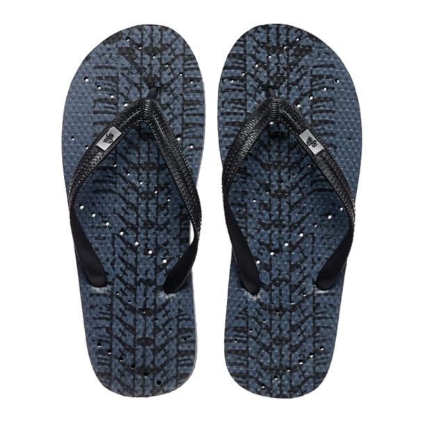 SHOWAFLOPS Mens Tire Track Grey/Black Flip-Flops (627)