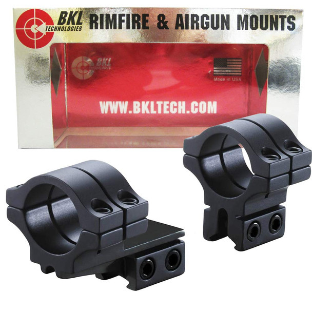 BKL Long Double Strap Offset 1in Medium Dovetail Scope Rings (278-MB)