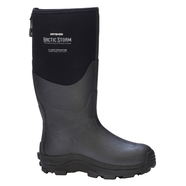 DRYSHOD Mens Arctic Storm Hi Black/Grey Winter Boot (ARS-MH-BK)