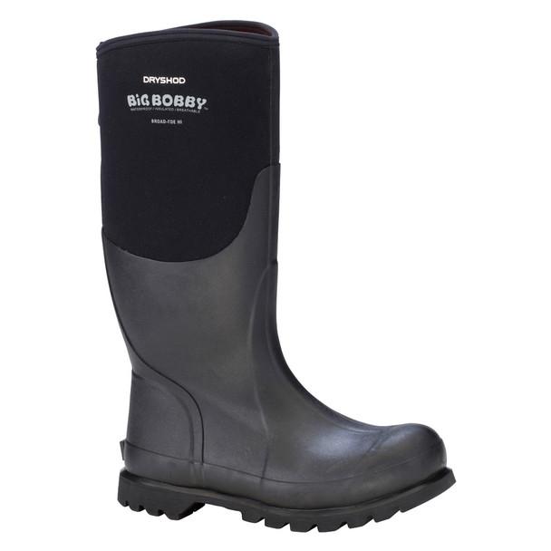 DRYSHOD Mens Big Bobby Hi Black/Grey Work Boot (BBB-MH-BK)