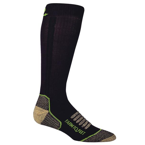 FARM TO FEET Ely Lightweight Mid-Calf Cu-Tech Hunt Mid Brown Sock (9678-200)