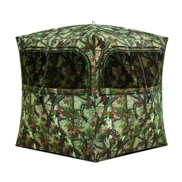 BARRONETT Grounder 350 80in Blood Trail Woodland Camo Hunting Blind (GR351BT)