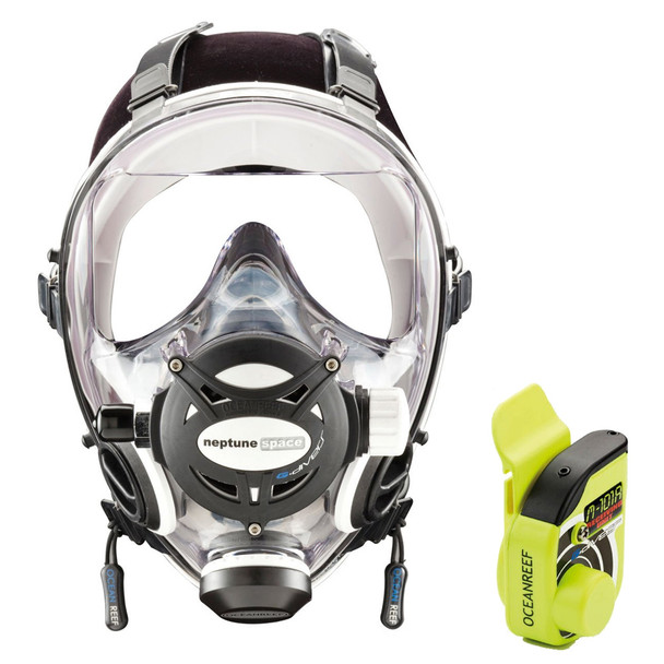 OCEAN REEF Neptune Space GDivers Integrated Diving Mask with GSM GDivers, White (OR033109-OR02501-W)