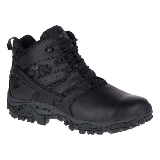 MERRELL Mens Moab 2 Mid Response Waterproof Black Boot (J45337)