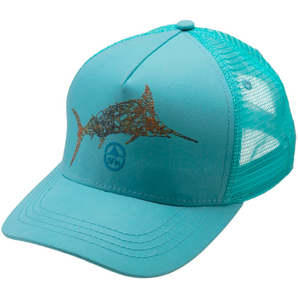 5FIN Mens Trash Marlin Mint Trucker Hat (MFC1003-MNT-1)