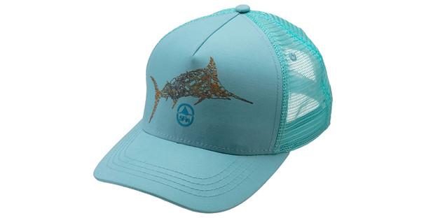 5FIN Mens Circle Fin Blue Trucker Hat (MFC1005-FFBL-1)