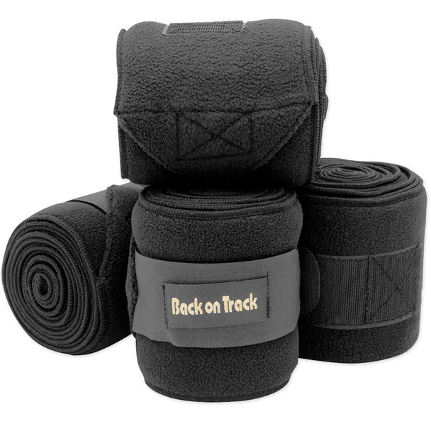 BACK ON TRACK Double Pack 11ft Black Polo Wraps (20400042)