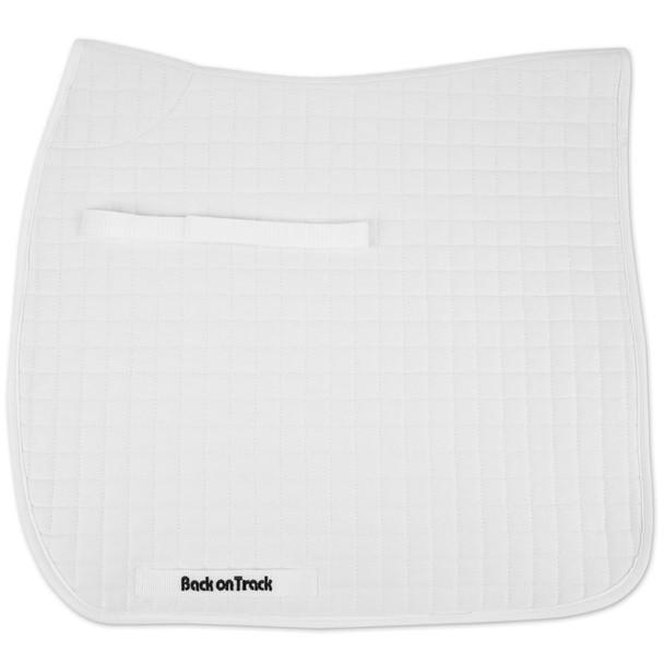 BACK ON TRACK Double Pack Dressage White Saddle Pad (21300202)