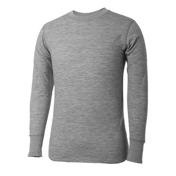 TERRAMAR 2Layer Grey Poly and Wool Crew Shirt (W7993-030)