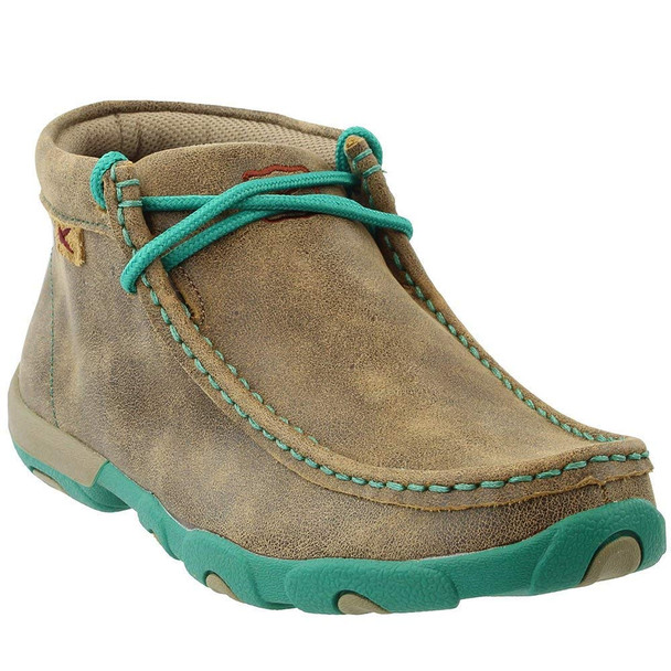 TWISTED X Womens Driving Bomber/Turquoise Moccasins (WDM0020)