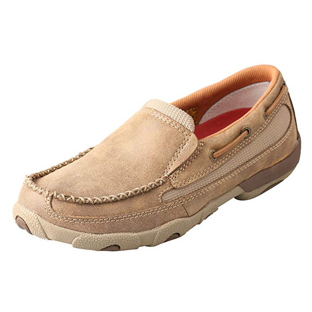 TWISTED X Womens Slip-on Driving Bomber Moccasins (WDMS005)