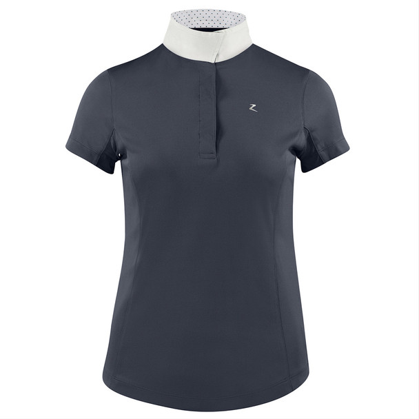 HORZE Blaire Women's Short-Sleeved Dark Navy Functional Show Shirt (33221-VDB)