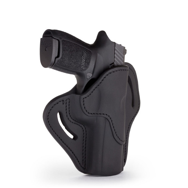 1791 GUNLEATHER BH2.4 Open Top Multi-Fit Stealth Black RH Holster (BH2.4-SBL-R)