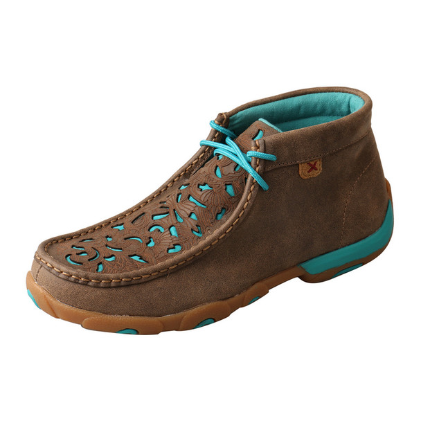 TWISTED X Chukka Driving Bomber/Turquoise Moccasins (WDM0126)