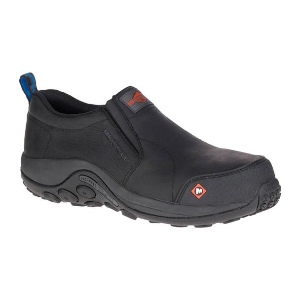 MERRELL Men's Jungle Moc Comp Toe Black Work Shoe